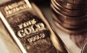 Gold bar, bullion