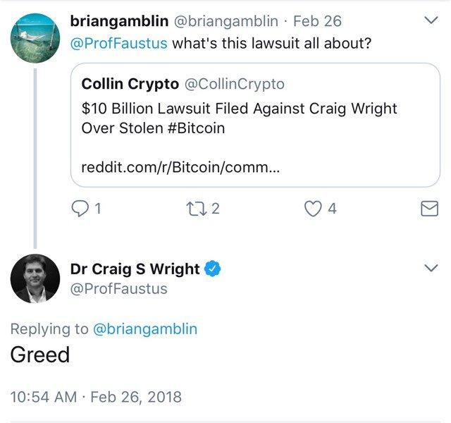 "Craig ""Satoshi"" Wright Sued for Billions"