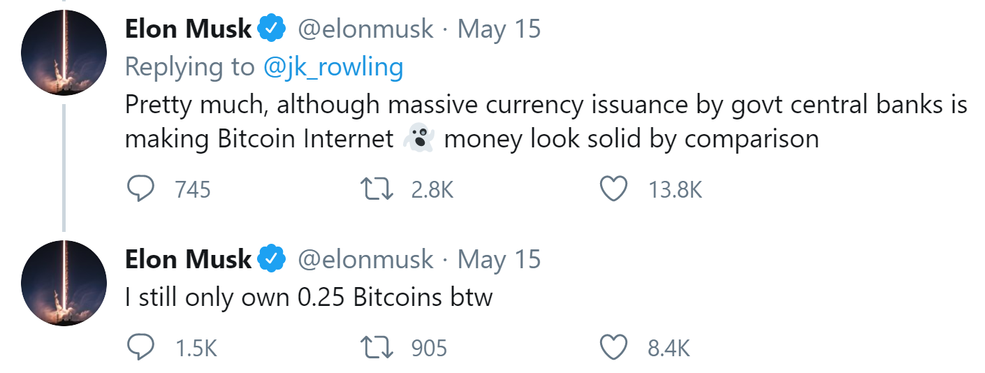 JK Rowling Bitcoin Quest: Elon Musk Joins Community to Explain Cryptocurrency to Harry Potter Author